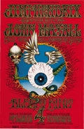"Music Memorabilia:Posters, Jimi Hendrix Experience ""Flying Eyeball"" Fillmore/Winterland Concert Poster BG-105 (Bill Graham, 1968). Here it is -- the B... (Total: 1 Item)"