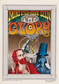"Rick Griffin ""My Eyes Have Seen the Glory"" Signed Poster (Berkeley Bonaparte, 1967). One of the undisputed kin..."