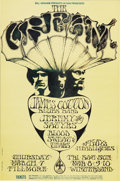 Music Memorabilia:Posters, Cream Fillmore/Winterland Concert Poster BG-110 (Bill Graham,1968). The Cream called it quits early on, while they were st...(Total: 1 Item)