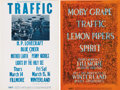 Music Memorabilia:Posters, Traffic and Moby Grape Fillmore/Winterland Concert Poster BG-111and BG-112 Group (Bill Graham, 1968). Stevie Winwood's ban...(Total: 2 Items Item)
