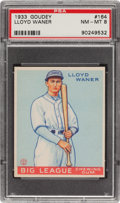 Baseball Cards:Singles (1930-1939), 1933 Goudey Lloyd Waner #164 PSA NM-MT 8 - Only Two Higher! ...