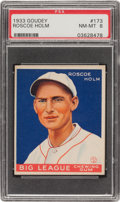 Baseball Cards:Singles (1930-1939), 1933 Goudey Roscoe Holm #173 PSA NM-MT 8 - Only One Higher! ...