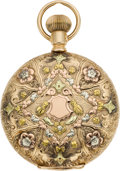 Timepieces:Pocket (pre 1900) , Hampden 14k Multicolor Gold 6 Size, circa 1880's. ...