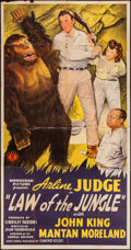 "Movie Posters:Adventure, Law of the Jungle (Monogram, 1942). Three Sheet (41"" X 79"").Adventure.. ..."