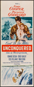 "Movie Posters:Adventure, Unconquered (Paramount, R-1955). Insert (14"" X 36""). Adventure....."