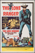 "Movie Posters:Western, The Lone Ranger and the Lost City of Gold (United Artists, 1958). One Sheet (27"" X 41""). Western.. ..."