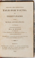 Books:Literature Pre-1900, J. H. Wynne. Amusing and Instructive Tales for Youth: in Thirty Poems. With Moral Applications. J. Harris, 1815....