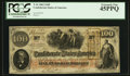 Confederate Notes:1862 Issues, T41 $100 1862 PF-27 Cr. 322A. J. Whatman Watermark.. ...
