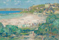 Fine Art - Painting, American:Modern  (1900 1949)  , CHILDE HASSAM (American, 1859-1935). Perros-Guirec, Côtes duNord, France, 1910. Oil on panel. 7 x 10 inches (17.8 x 25....