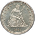 Seated Quarters: , 1891 25C MS64 PCGS. PCGS Population (149/90). NGC Census:(142/120). Mintage: 3,920,600. Numismedia Wsl. Price for problem...
