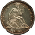 Proof Seated Half Dollars, 1889 50C -- Spot Removals -- NGC Details. Proof. NGC Census:(3/167). PCGS Population (4/186). Mintage: 711. Numismedia Wsl...