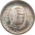 Commemorative Silver: , 1946-S 50C Booker T. Washington MS67 NGC. NGC Census: (74/2). PCGSPopulation (79/1). Mintage: 500,279. Numismedia Wsl. Pri...