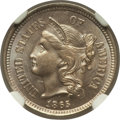 Three Cent Nickels: , 1865 3CN MS66 NGC. NGC Census: (18/1). PCGS Population (37/2).Mintage: 11,382,000. Numismedia Wsl. Price for problem free ...