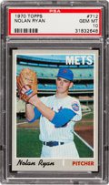 Baseball Cards:Singles (1970-Now), 1970 Topps Nolan Ryan #712 PSA Gem MT 10 - A Pop Two Stunner! ...