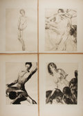 "Books:Prints & Leaves, Willy Pogany (1882-1955), artist. Lot of Four Original LimitedEdition Engravings. 13"" x 17.5"" overall. Signed by the artist..."