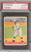 Baseball Cards:Singles (1930-1939), 1933 Goudey Al Simmons #35 PSA NM-MT 8....