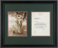 Golf Collectibles:Autographs, 1958 Bobby Jones Signed Letter....