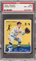 Baseball Cards:Singles (1930-1939), 1934 Goudey Frank Hogan #20 PSA NM-MT 8 - Only One Higher. ...