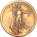 High Relief Double Eagles, 1907 $20 High Relief, Wire Rim AU58 PCGS....