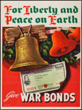 """Movie Posters:War, World War II Propaganda (U.S. Government Printing Office, 1944).War Bonds Poster (28.5"""" X 38"""") """"For Liberty and Peace on Ea..."""
