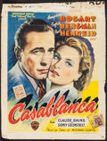 "Movie Posters:Academy Award Winners, Casablanca (Warner Brothers, 1947). Trimmed Belgian (11.5"" X15.25""). Academy Award Winners.. ..."