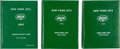 Football Collectibles:Programs, 1967 and 1973 Weeb Ewbank Personal Bounded New York Jets Programs (3 Hardcover Leather Books)....