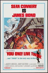 """You Only Live Twice (United Artists, 1967). One Sheet (27"""" X 41"""") Style A. James Bond"""
