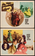 "Movie Posters:Academy Award Winners, Gone with the Wind (MGM, R-1947). Lobby Cards (2) (11"" X 14"").Academy Award Winners.. ... (Total: 2 Items)"
