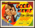 """Movie Posters:Musical, Good News (MGM, 1947). Title Lobby Card (11"""" X 14""""). Musical.. ..."""