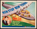 """Movie Posters:Mystery, Non-Stop New York (Gaumont, 1937). Title Lobby Card (11"""" X 14"""").Mystery.. ..."""