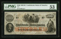 Confederate Notes:1862 Issues, T41 $100 1862 PF-5 Cr.315.. ...