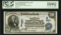 National Bank Notes:Pennsylvania, Pittsburgh, PA - $20 1902 Date Back Fr. 642 The German NB Ch. #(E)757. ...