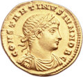 Ancients:Roman Imperial, Ancients: Constantine II as Caesar (AD 317-337). AV solidus (19mm,4.44 gm, 6h)....