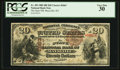 National Bank Notes:Kentucky, Maysville, KY - $20 1882 Brown Back Fr. 493 The State NB Ch. #2663. ...