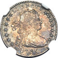 Early Half Dimes, 1796 H10C LIKERTY MS61 NGC. V-1, LM-1, R.3....