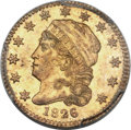 Early Quarter Eagles, 1826 $2 1/2 AU55 PCGS. BD-1, High R.5....