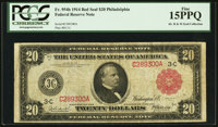 Fr. 954b $20 1914 Red Seal Federal Reserve Note PCGS Fine 15PPQ