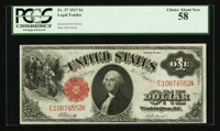 Fr. 37 $1 1917 Legal Tender PCGS Choice About New 58