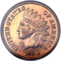 Proof Indian Cents, 1880 1C PR66 Red PCGS. CAC....