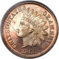 Proof Indian Cents, 1866 1C PR65 Red Cameo PCGS....
