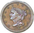Proof Braided Hair Half Cents, 1841 1/2 C Original PR65 Brown PCGS. CAC. B-1, R.5....