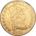 Early Eagles, 1801 $10 -- Mount Removed -- NGC Details. VF. BD-2, R.2....