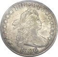 Early Half Dollars, 1806 50C 6 Over Inverted 6 XF45 PCGS. CAC. O-112, R.4....