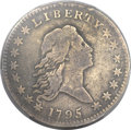Early Half Dollars, 1795 50C 3 Leaves Fine 15 PCGS. O-111, High R.4....