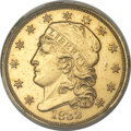 Early Quarter Eagles, 1832 $2 1/2 AU55 ANACS. BD-1, R.4....