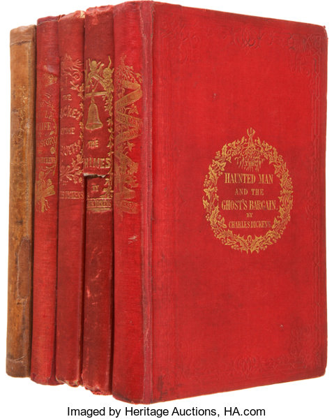 booksliterature pre 1900 charles dickens five christmas books including