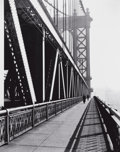 Photographs:20th Century, BERENICE ABBOTT (American, 1898-1991). Walkway, ManhattanBridge, New York, 1936. Gelatin silver, printed before 1955.9...