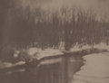 Photographs:20th Century, GEORGE SEELEY (American, 1880-1955). Winter Landscape, 1926.Vintage platinum. 7-3/8 x 9-5/8 inches (18.6 x 24.6 cm). Si...
