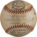 Autographs:Baseballs, 1931-34 Official American League (Harridge) Baseball....