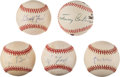 Baseball Collectibles:Balls, 1990's Presidential Single Signed Baseballs Lot of 5. ...